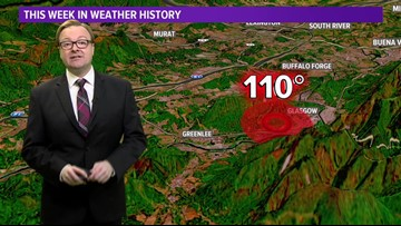 This Week in Weather History: July 15, 1954 - Hottest temperature ever recorded in Virginia!