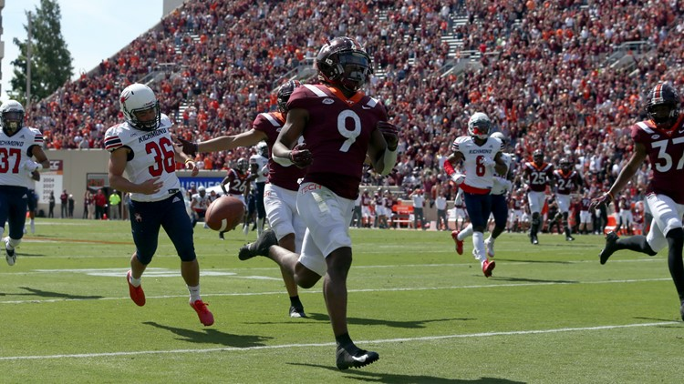 Robinson's punt return helps Virginia Tech top Richmond