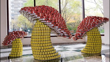 'Canstruction' event at MacArthur Center helps local food bank