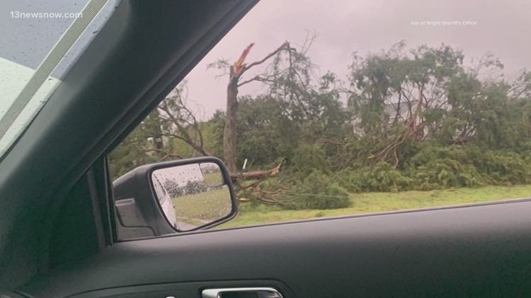 National Weather Service says EF-0 tornado touched down in Isle of Wight