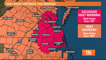 Not just Heat Advisories: Hampton Roads is under an 'Excessive Heat Warning'
