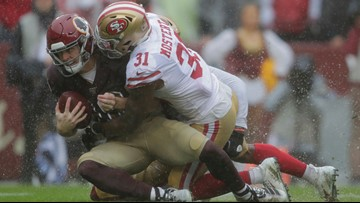 49ers beat Redskins in ugly 9-0 game to improve to 6-0