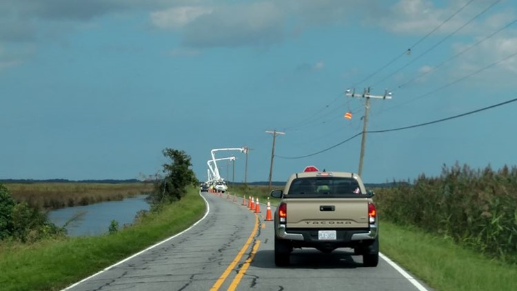Knotts Island Causeway Power Restoration