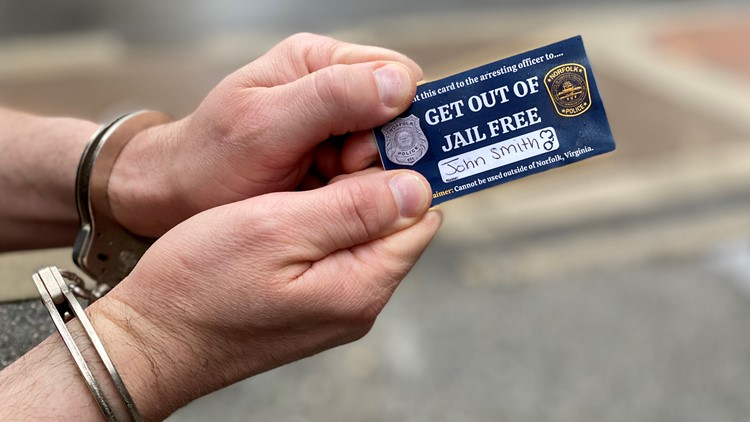 Totally, completely unrelated to April Fool's Day, Norfolk Police offers Get Out of Jail Free cards