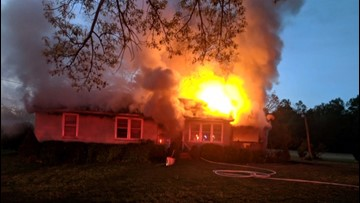 Suffolk firefighters battle two-alarm house fire