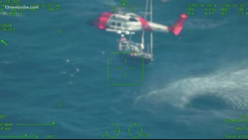 Coast Guard rescues man on Thanksgiving Day off North Carolina coast