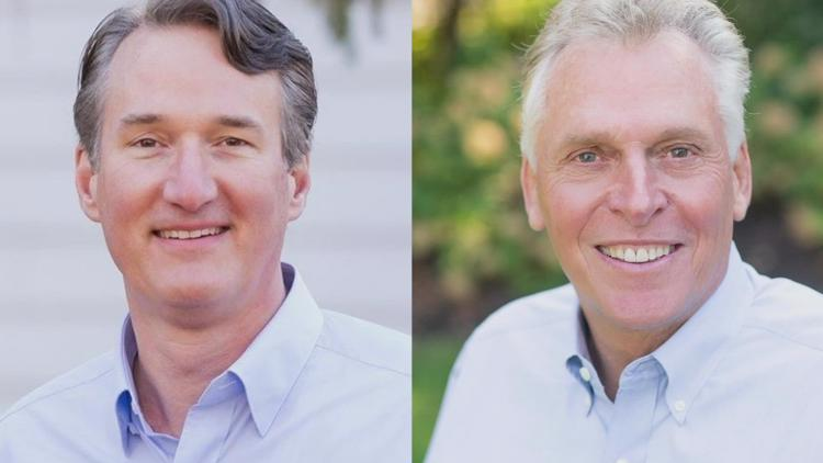 Glenn Youngkin and Terry McAuliffe on the campaign trail