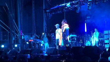 Jay-Z makes surprise appearance on stage at 'Something in the Water'