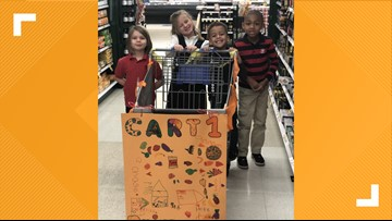 Chesapeake kindergartners take field trip to grocery store to buy food for those in need