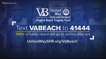 Over $3.5 million raised for Virginia Beach Municipal Center shooting tragedy fund