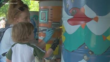 Volunteers take part in Lafayette Park beautification project