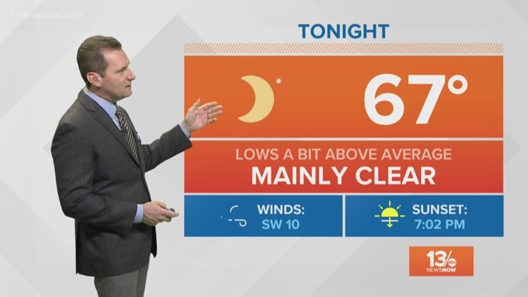 FORECAST: Mostly sunny and warmer Sunday