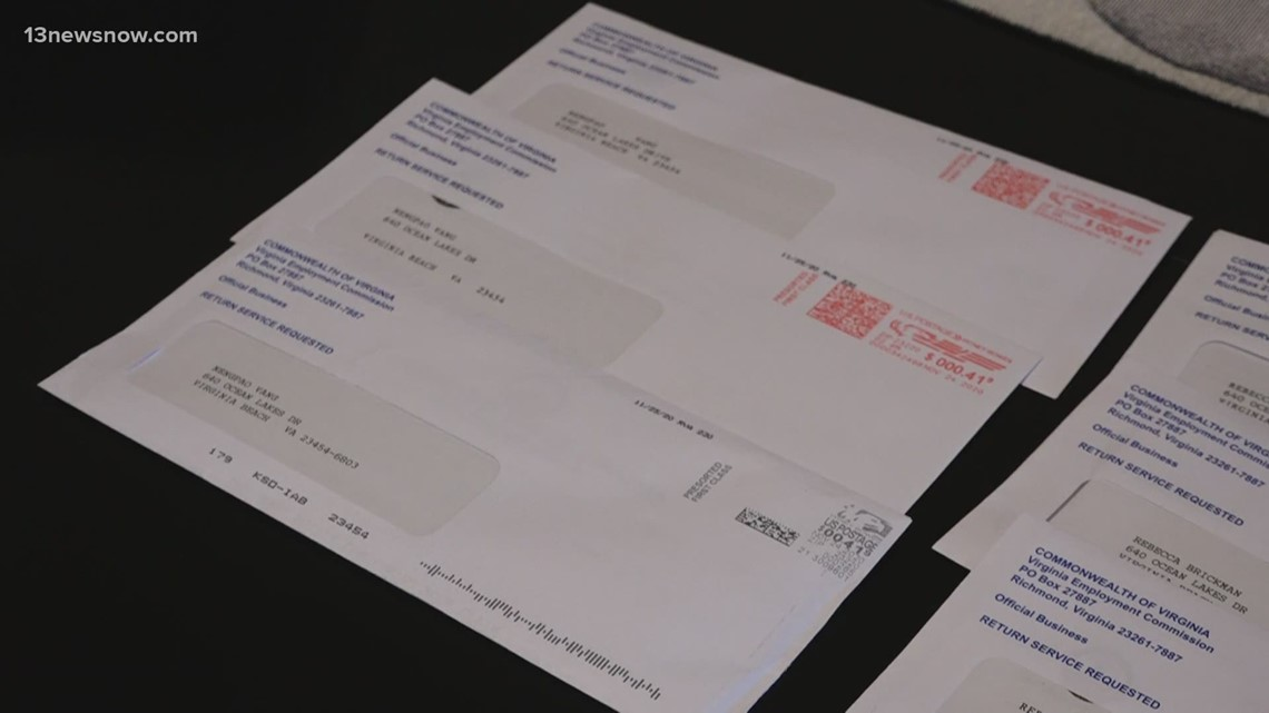 Virginia Beach woman receives 9 unemployment letters, all addressed to different people