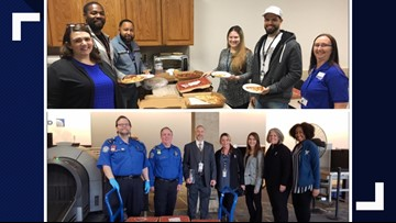 Local schools deliver lunches to TSA workers at Norfolk International Airport