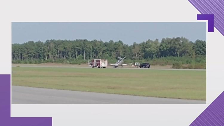 Plane makes hard landing at Suffolk Executive Airport