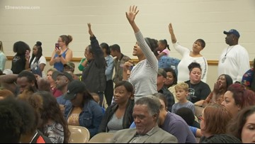 Parents demanded answers from administrators after reports of rodents, mold at Norfolk elementary school