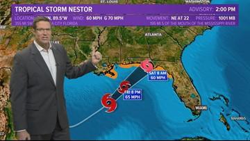Tropics update: Tropical Storm Nestor aims for Gulf Coast landfall