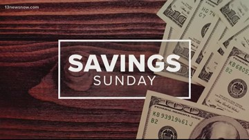 Savings Sunday deals for the week of November 3, 2019