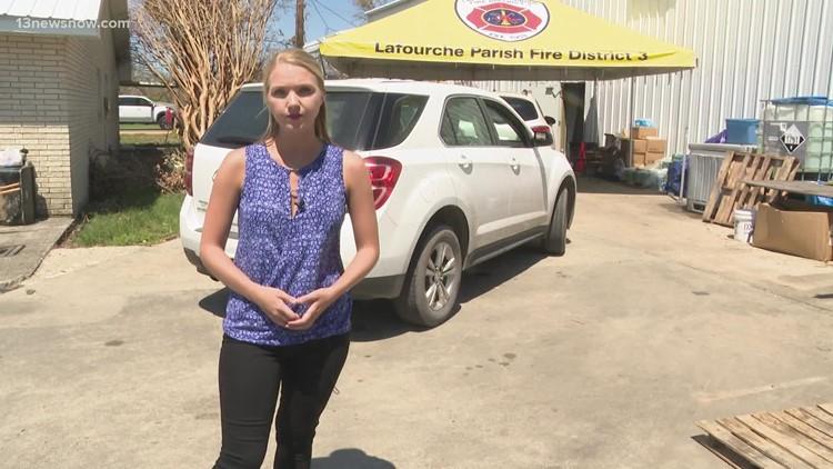 Louisiana church opens supply drive-thru for people hit by Hurricane Ida