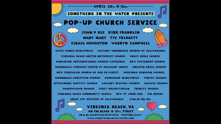 Pop-up church graphic