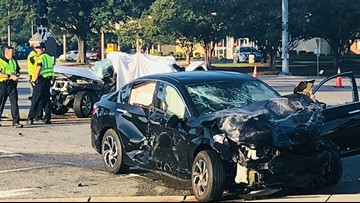 Two people dead in three-vehicle crash in Virginia Beach, police say