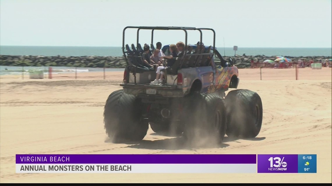 Day 2 Of The Annual Monsters On Beach At Oceanfront 13newsnow