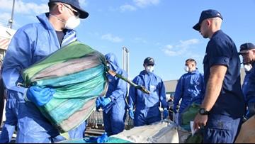 Coast Guard offloads seized drugs worth $62.5 million