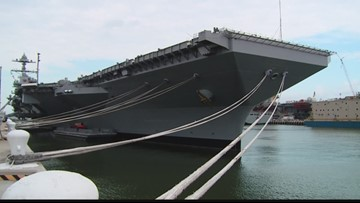 USS Gerald R. Ford accepts first advanced weapons elevator