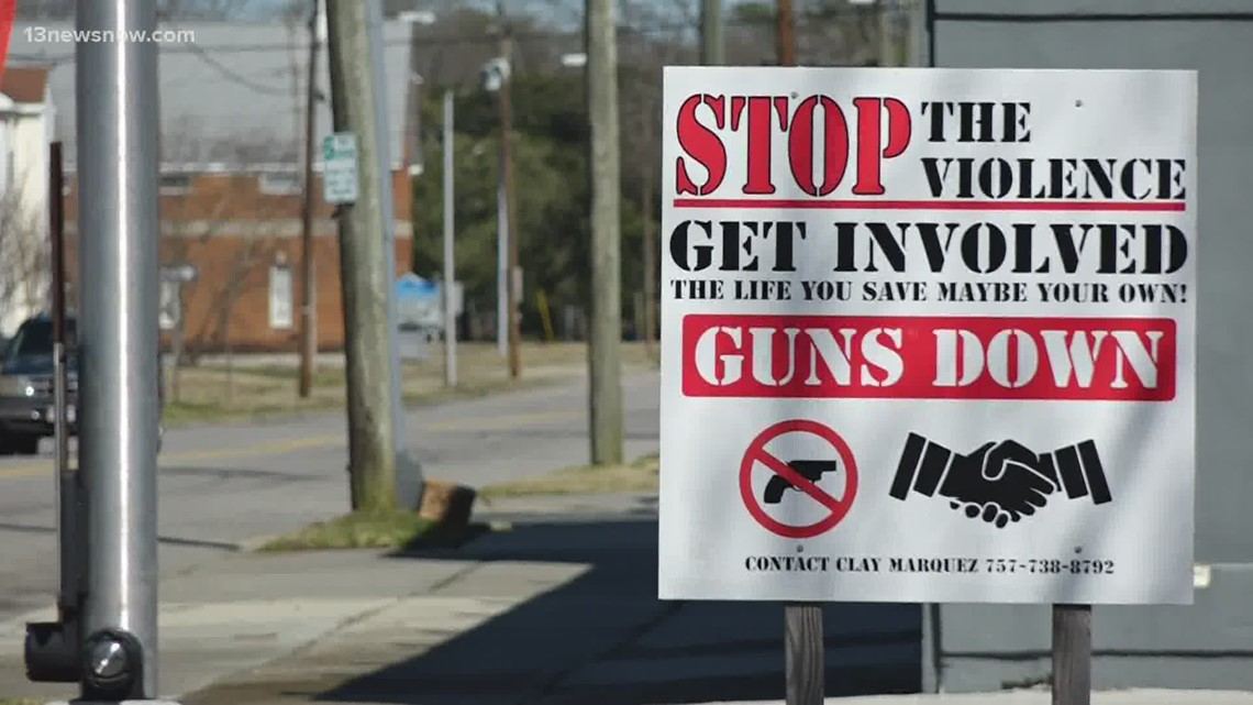 Norfolk man launches effort to end gun violence