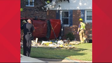 One dead, two injured as pickup truck overturns, crashes into home