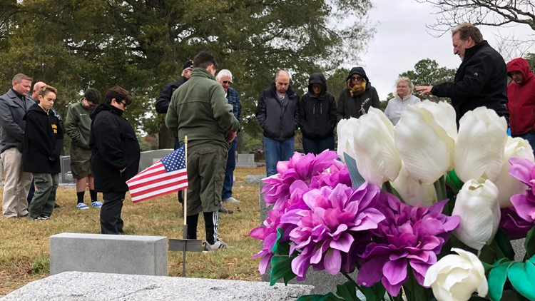 Virginia Beach Boy Scout places headstone at grave of teen who perished in fire nearly 50 years ago