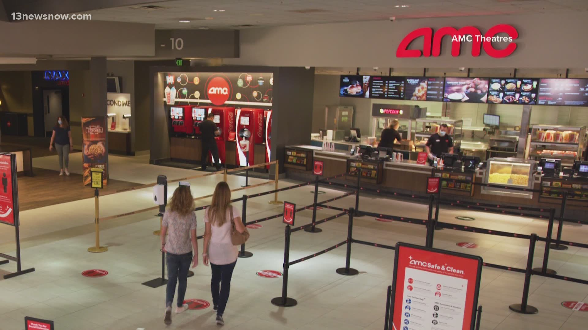 Amc Theatres Reopening Two Locations In Hampton Roads Offering 15 Cent Tickets For One Day 13newsnow Com