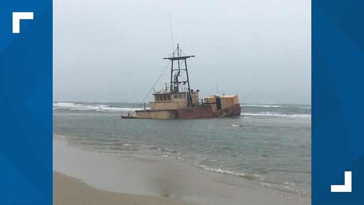 Abandoned vessel on Cape Hatteras