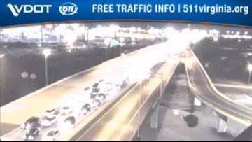 4 people, multiple dogs hurt in multi-car crash on Monitor Merrimac Memorial Bridge Tunnel