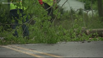 Severe weather causes damage on peninsula