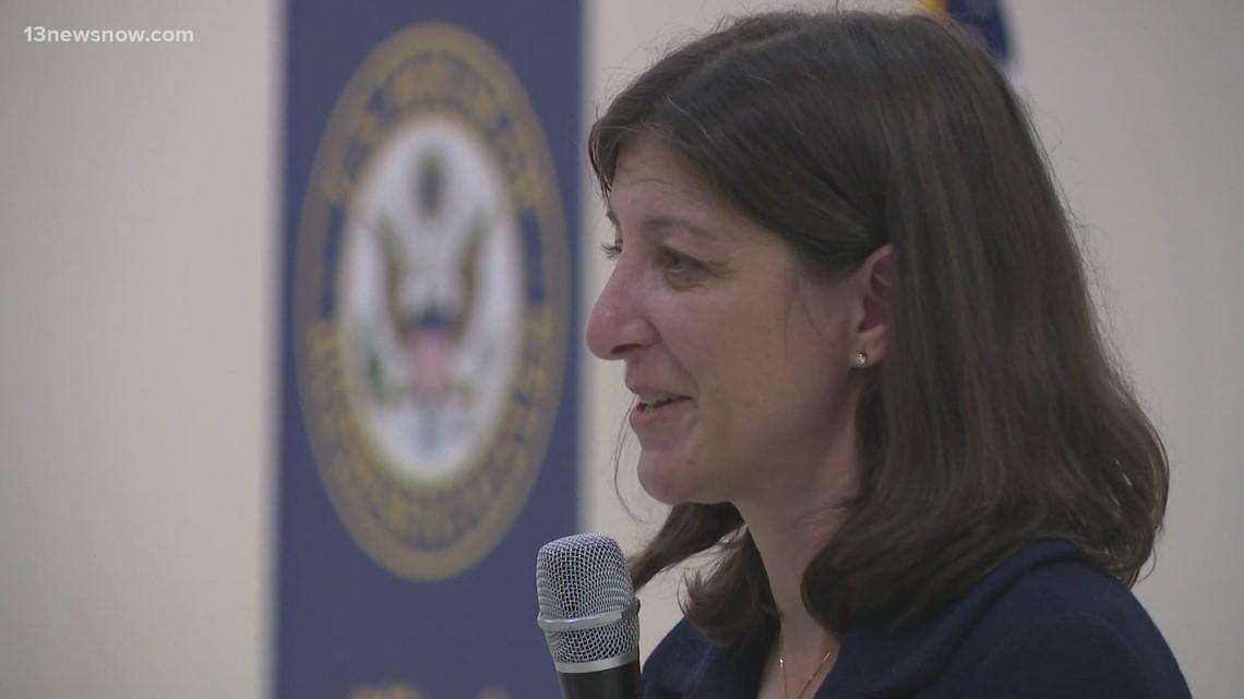 Rep. Luria talks about gun violence at Virginia Beach town hall