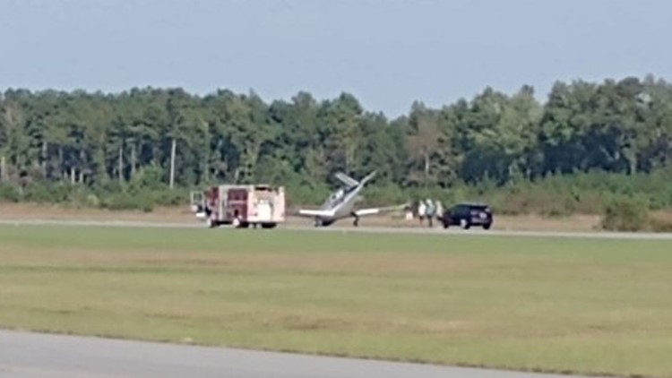 No one hurt after plane makes hard landing in Suffolk