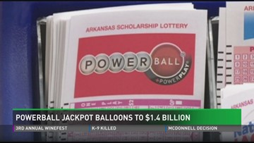 Powerball jackpot spikes to $1 4 billion | 13newsnow com
