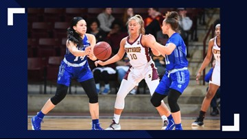 Lady Pirates big 2nd half does in Winthrop