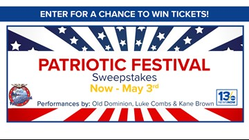 Patriotic Festival sweepstakes rules