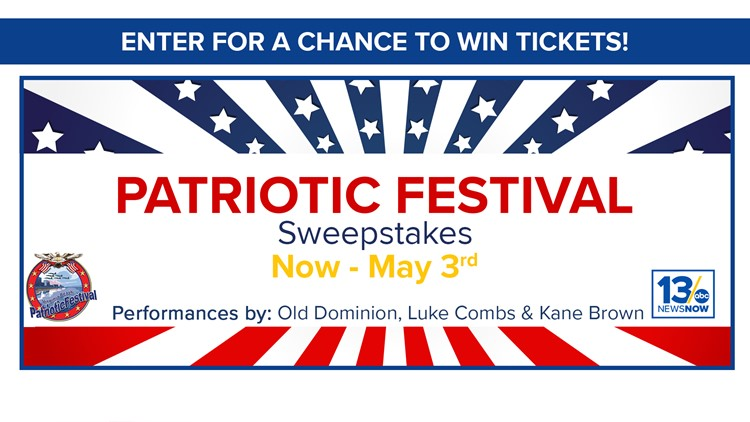 Patriotic Festival sweepstakes rules | 13newsnow com