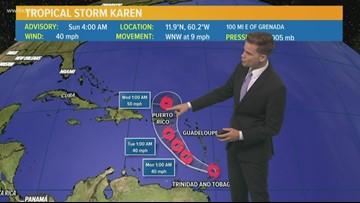 Tropics: Tropical Storm Karen has formed